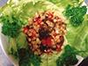レンズ豆ともずくのさわやかサラダの写真